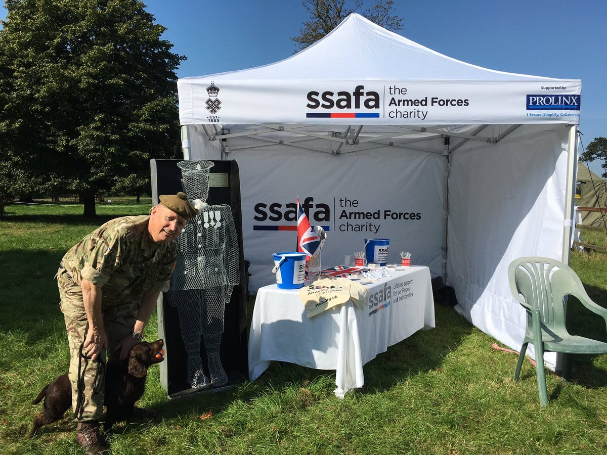 SSAFA and Prolinx branded gazebo