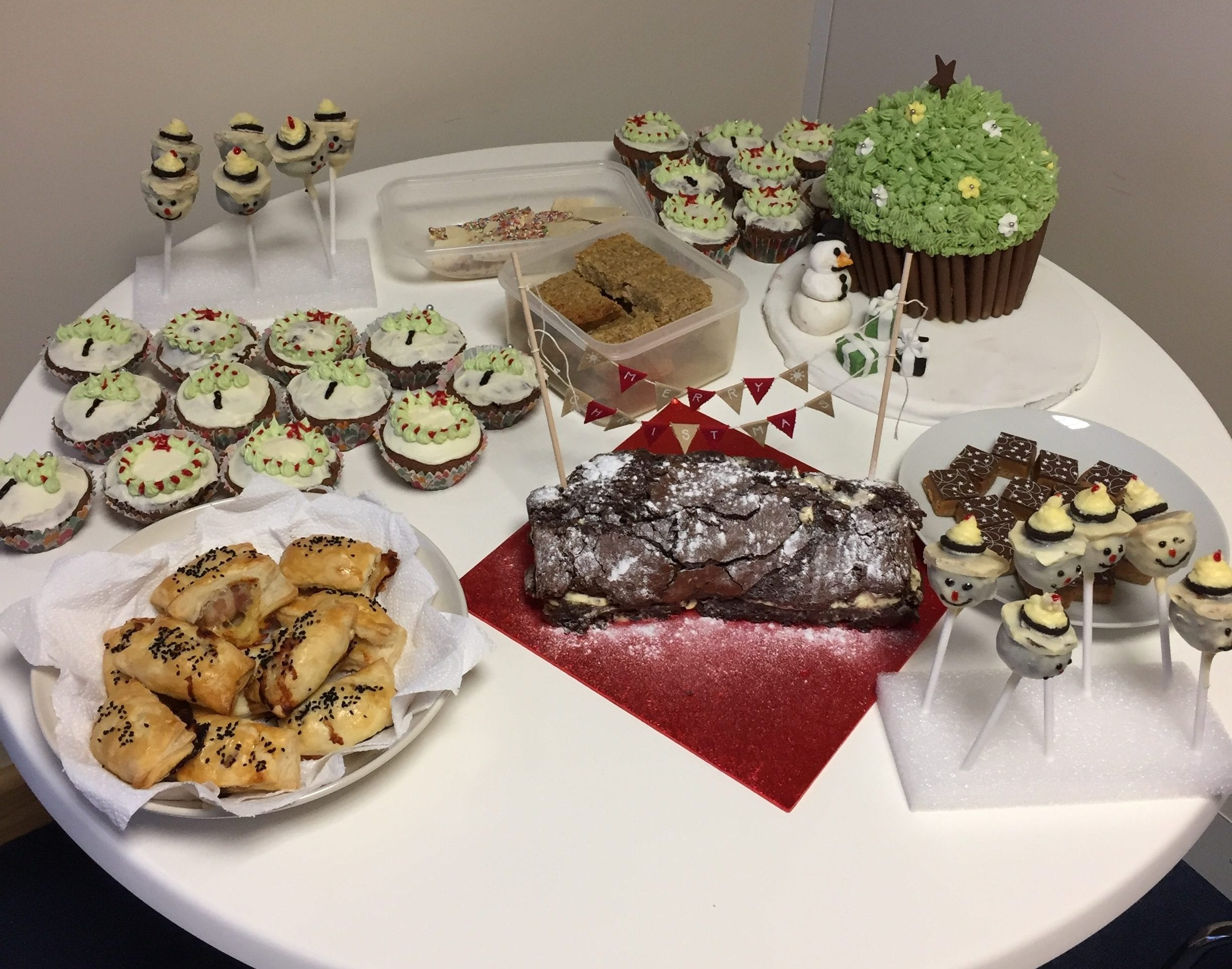 Cakes baked by Prolinx employees in December 2016