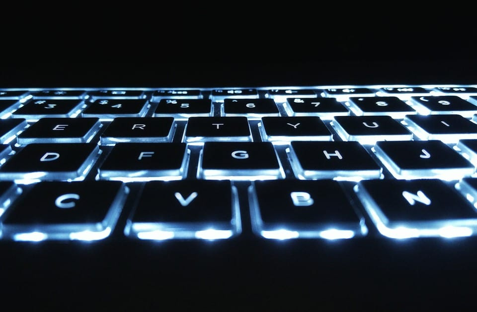 Backlights on a keyboard